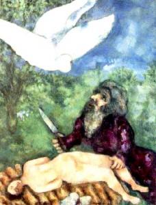 Marc Chagall - Jertfirea lui Isaac
